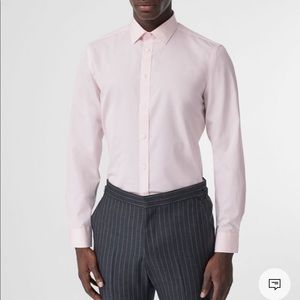 Burberry pale pink nova check button up shirt
